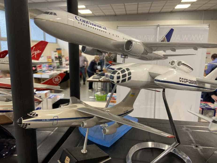 Patrick van Rooijen from Amsterdam brought a fabulous selection of models for sale to the Frankfurt Schwanheim airline show in November 2019, including these unique Russian aircraft models.