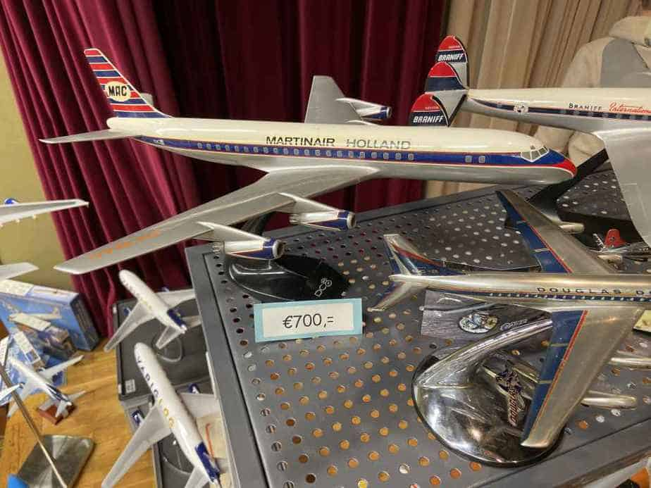 Ed van Rooijen from Amsterdam brought a fabulous selection of models for sale to the Frankfurt Schwanheim airline show in November 2019, including this fabulous condition Martinair Holland DC-8 1/100 metal model by Verkuyl priced at 700 Euros.