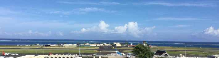 Magnificent view of the international terminal at Tahiti's Faaa airport.