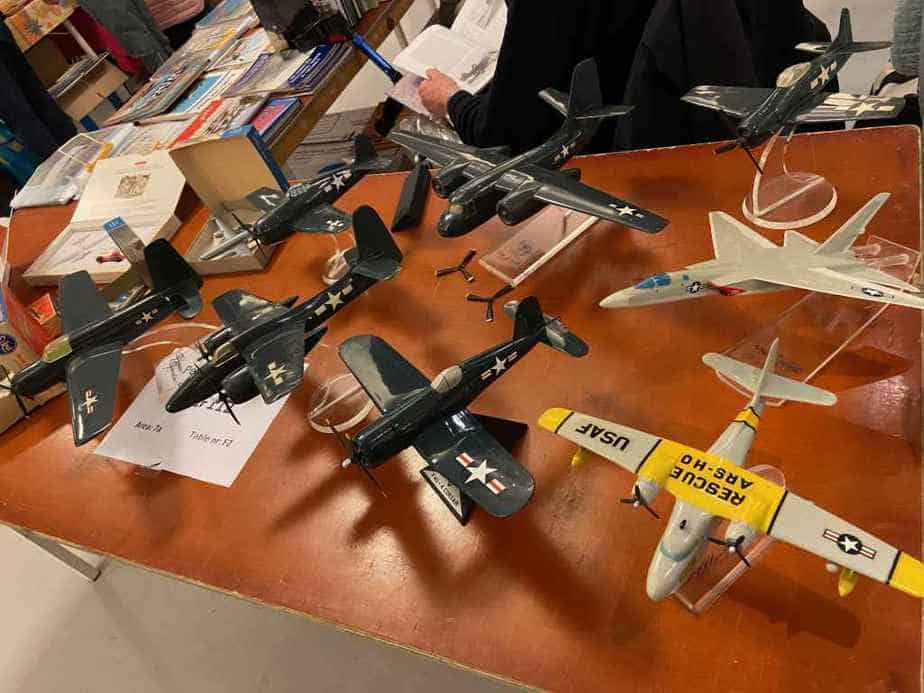 A selection of Topping Models military display models at the Amsterdam Aviation show 2020