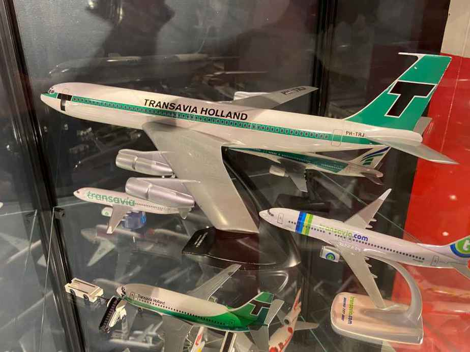 Transavia Holland707 in 1/100 metal made by Verkuyl is part of the Aviodrome Aviation Museum.